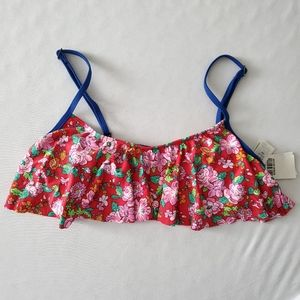 Abercrombie and Fitch Floral Ruffle Bikini Top